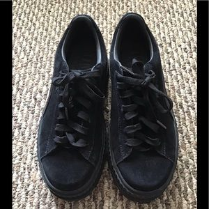 Black Fenty Puma Cleated Creepers